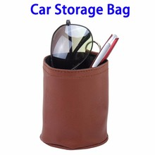 Alibaba Express Portable Car Organizer, Leather Storage Carrying Pouch Bag In Car