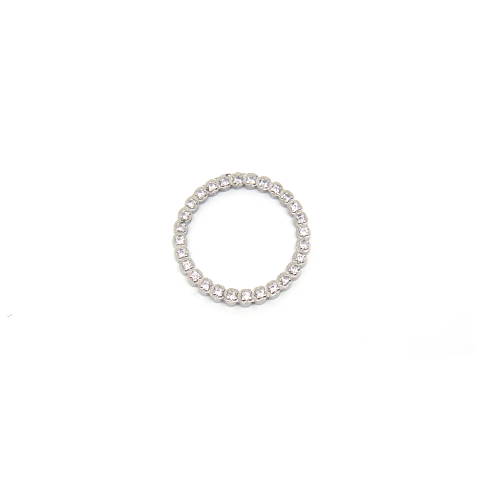 New design stainless steel crystal zircon jewelry zircon micro pave connector
