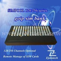 Ejoin cheap remote voip 256 Slots sim bank / box gsm module compatible with goip gsm modem sim server sms gateway