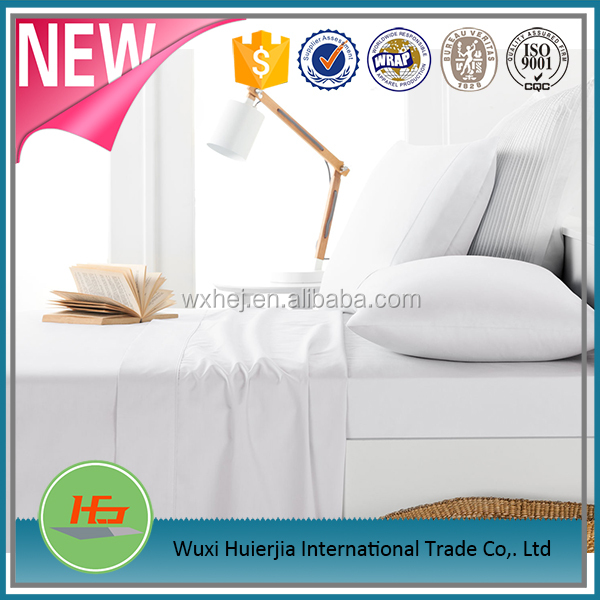 home Hotel hospital Use white bed sheets 50 cotton 50 polyester