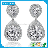 Fashion Products Diamond Tear Airplane Earrings