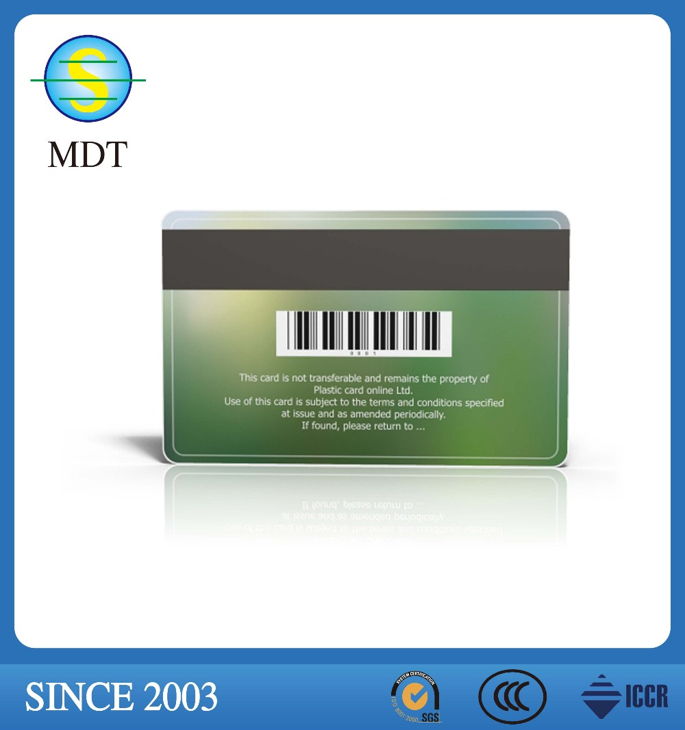 Credit card size blank plastic PVC card