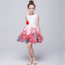 Model design children Summer Wear Printed Daily Dresses For Girls Clothes