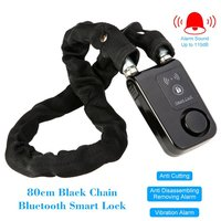 Bluetooth Cloth Covered Interlocking Chain Bike motorcycle alarm disc lock 31 inch 110db Alarm With cellphone notification