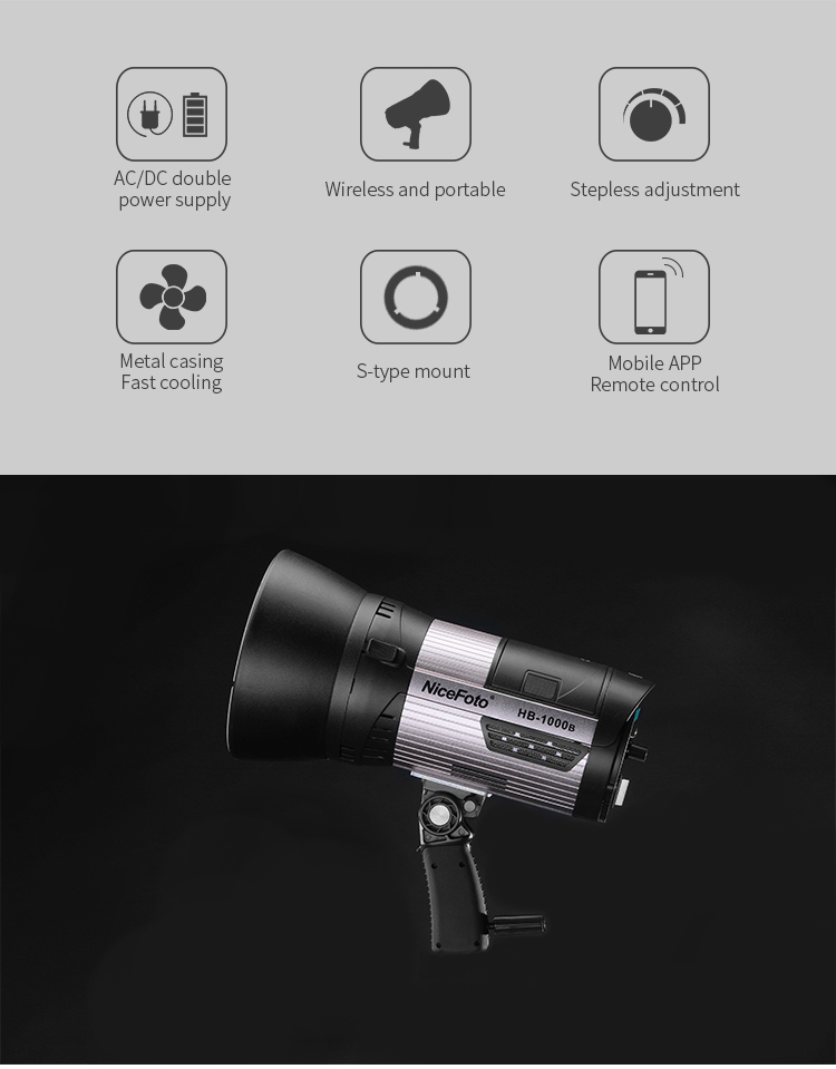NiceFoto outdoor LED video light HB-1000B