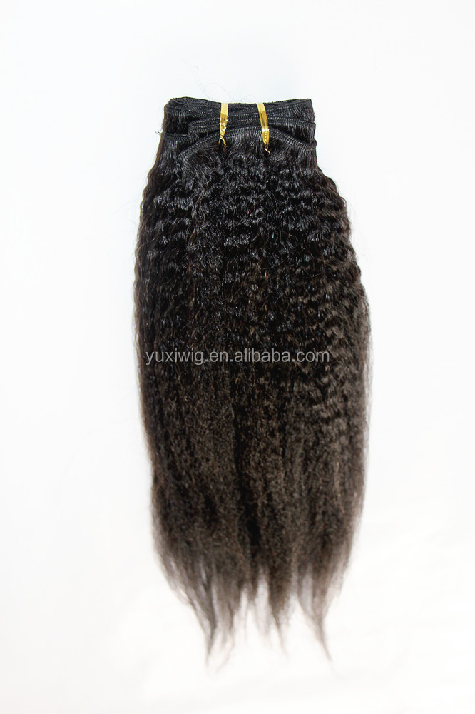 wholesale 12-30inch afro kinky straight virgin indian hair extension for black women