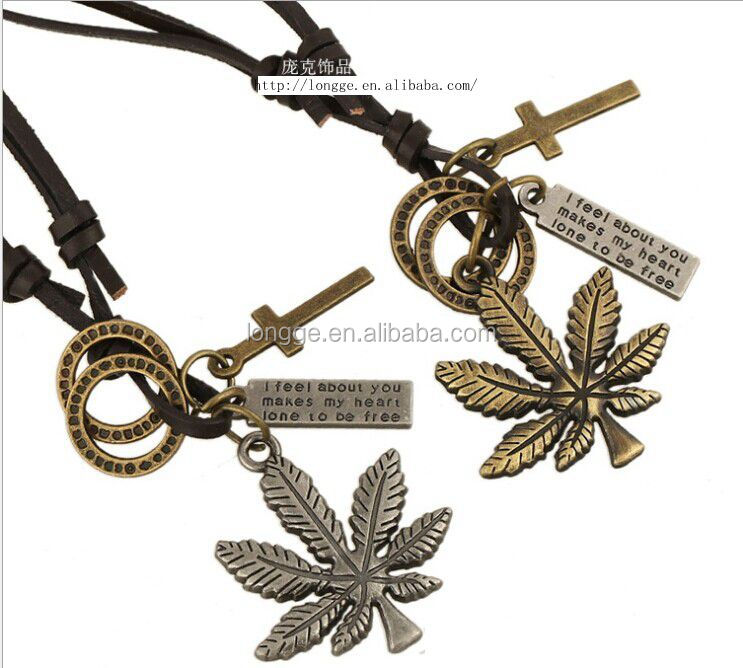 wholesale chunky statement necklace in china with Fashion new style with maple leaf shaped