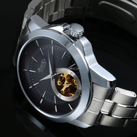 New Stainless Steel Watch Men,Automatic Mechanical Skeleton Watch WM432