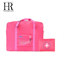 Colorful in stock nylon travel bag foldable
