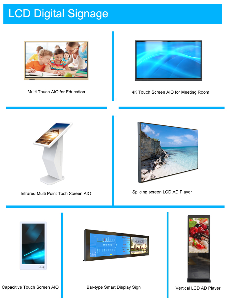43inch LED Vertical LCD Digital Signage Stand Shopping Mall Advertising Touch Screen Kiosk