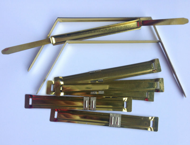 80mm golden paper fastener/paper file fastener