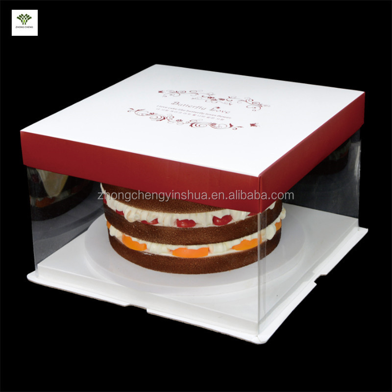 European design clear cake box plastic cake boxes design birthday cake packaging