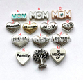 fashion cheap price antiqued silver plating floating heart charms