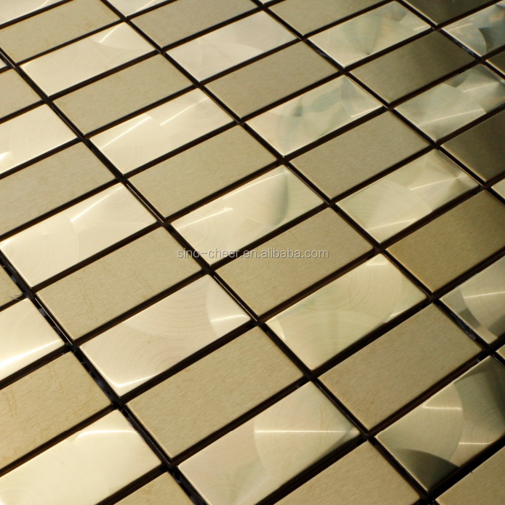 Silver Chrome 304 Stainless Steel Backsplash Arched Mosaic Metal ...