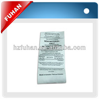 colorful washing instruction wholesale custom clothing care label