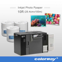 4''X6'' Glossy Photo Paper for Noritsu D1005HR Minilab Printer (roll paper for DRY TYPE inkjet printer, Fuji DL400, Epson D700)