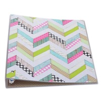 New colorfuL vintage design cover expanding file folder a4