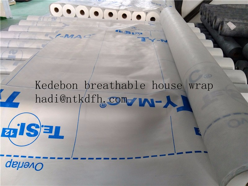 PE coated nonwoven condensation preventing breather membrane