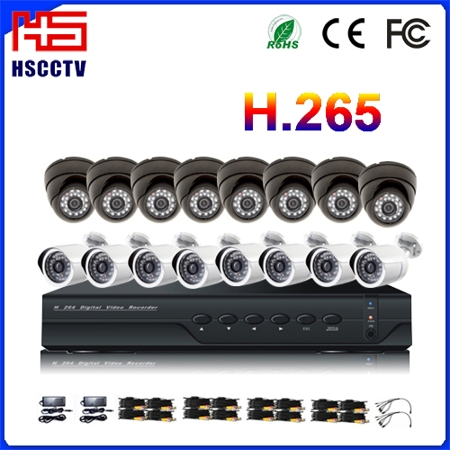 4CH Real Time H.264 Network DVR AHD Camera CCTV Home Security Product