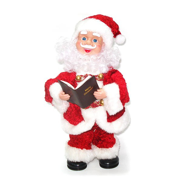 hot and cheap electric santa claus toy unique singing and dancing plush toy/singing Father Xmas