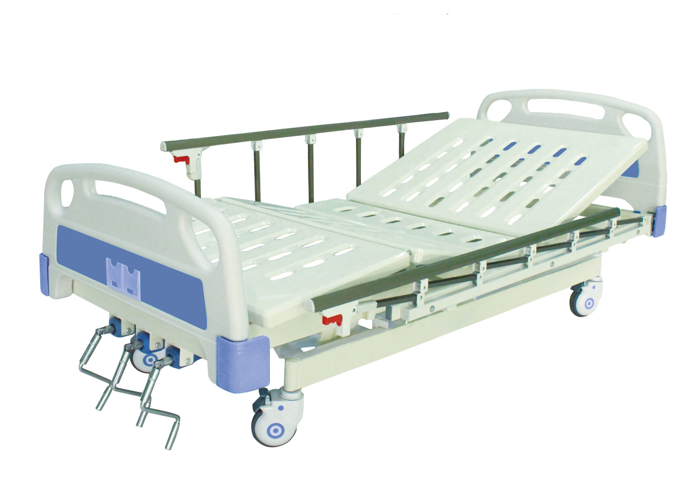 AC-MB075 medical metal 3 function manual patient  hospital equipment bed prices