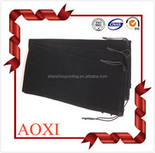 High quality fashion custom velvet drawstring velvet pen gift bag