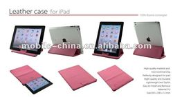 Multi-function designer and foldable leather sleeve for iPad 3 with stand case,accessories for iPad