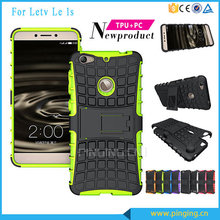 PC + TPU hybrid kickstand mobile phone case for letv le1s x500, back cover case for letv le 1s