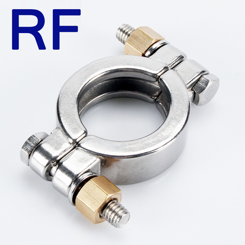 "RF 1.5"" Sanitary Stainless Steel 304 Tri Clamp Tri Clover High Pressure Clamp with FPM Gasket 13MHP Dairy Pipe <strong>Fittings</strong>"