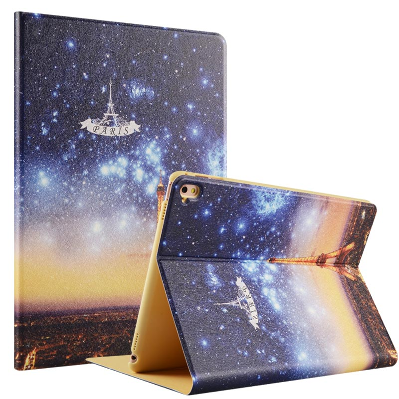 2017 cheap muti-color cartoon PC + PU case for iPad Pro9.7 tablet case