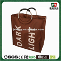 Hot Sell Fabric Double Lattice canvas laundry bag