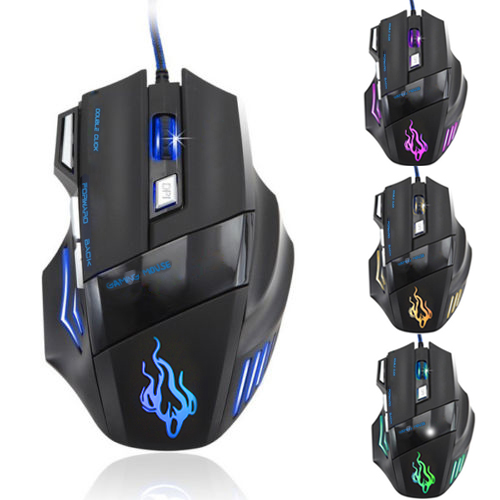 New LED Optical 7 Button USB Wired Expert Gaming Mouse Mice For Pro Gamer Cheap