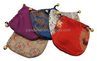 Mixed Jewelry Gift Drawstring Embroidery Sachet Satin Bag Pouches Wholesale