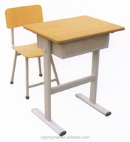 Cheap kids study desk with chair for primary school
