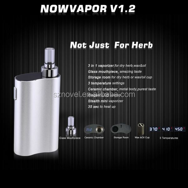 User-friendly Green Fashion 3 in 1 Series Dry Herb Vaporizer dmt vaporizer pen Now Vapor V1.2