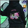 High Quality Embroidery Girls Hoodie Custom