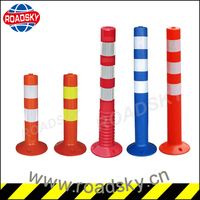 Highly Reflective PVC Round Delineator Post
