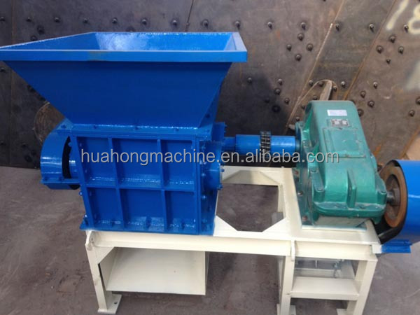 Small double shaft food waste shredder, industrial waste food crusher