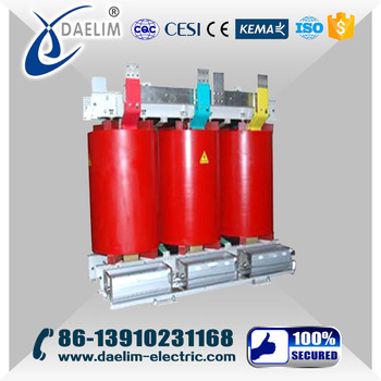 33kv 3mva 3-Phase Dry Type Transformer with Cooper Winding