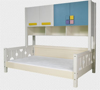 Children Solid Pine Wooden Double Bed Designs with Storage