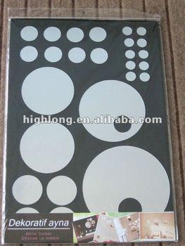 Mirror adhesive decorative wall decal sticker buy mirror for Sticker miroir adhesif