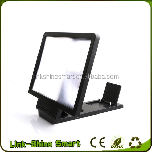 2017 mobile phone LCD LED portable electronic magnifier,screen magnifier, mobile phone screen magnifier