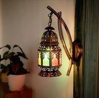 Vintage Sconce Fixture iron Caged Wall Lamp Kitchen Rustic Porch Vanity Light