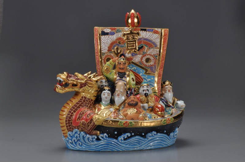 Seven Deities of Good Fortune Treasure Ship Craft ships for sale
