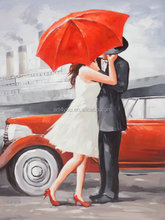 Romantic portrait canvas painting for wall art