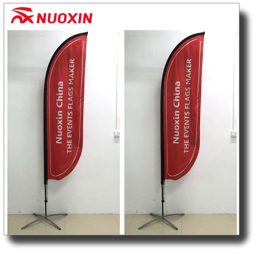Cheap price wind resistant golf sports game polyester flying feather banner