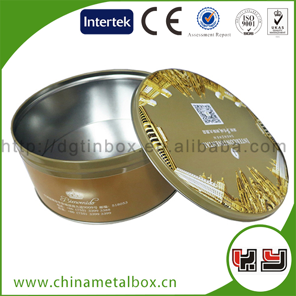 Packaging boxes White logo Cans Tall Cookie Tin