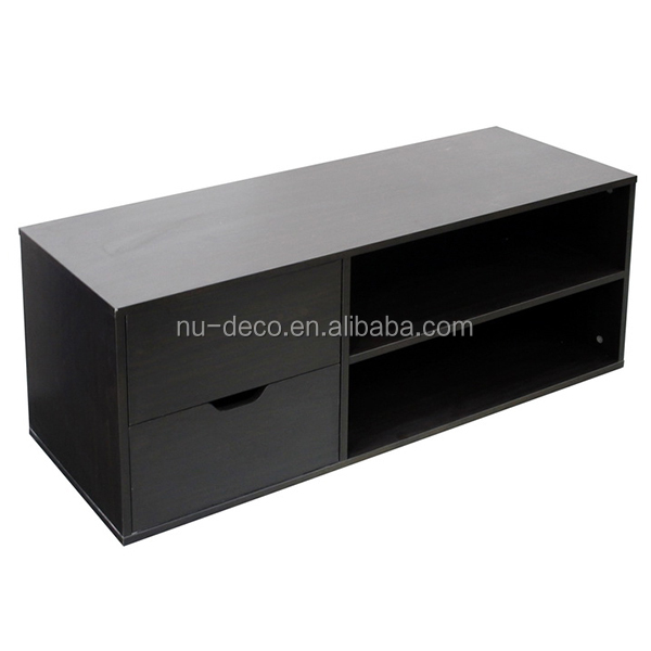 Wooden furniture led TV stand TV table with cupboard and drawers
