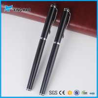 customized logo and colorful and free ink metal roller ball pens with diamond decorate the top
