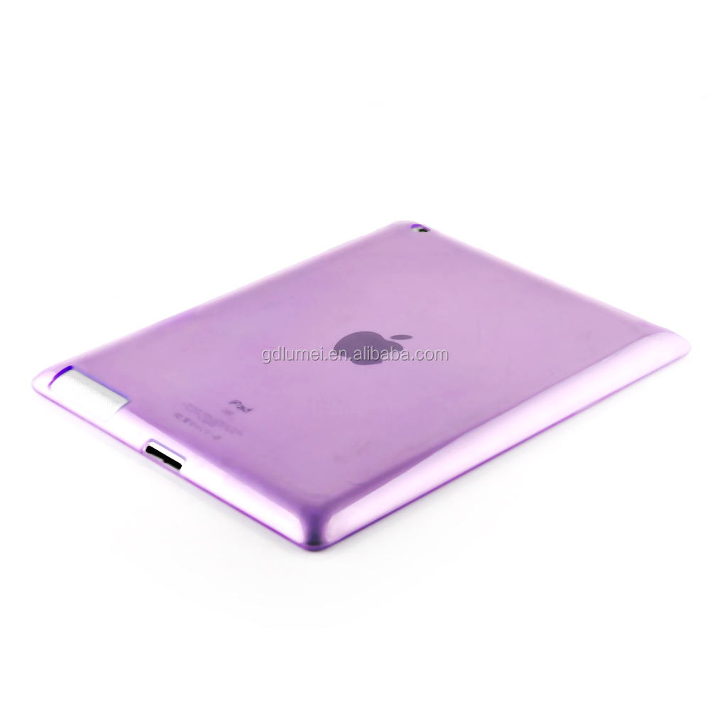 Slim colorful transperant soft TPU tablet case for ipad 2,tablet cover for ipad 2